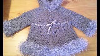 getlinkyoutube.com-How to Crochet a Baby Sweater part 02 كروشيه جاكيت اطفال الجزء