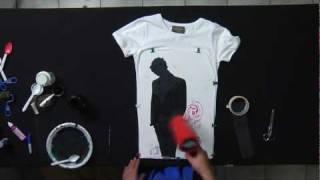 getlinkyoutube.com-Cerati stencil t shirt by Sbarsiniestro, time lapse