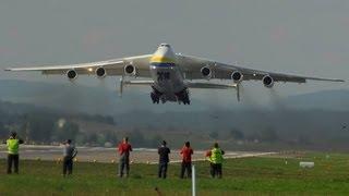 """getlinkyoutube.com-Antonov-225 """"Mriya"""" AMAZING take off runway 16 at ZRH"""