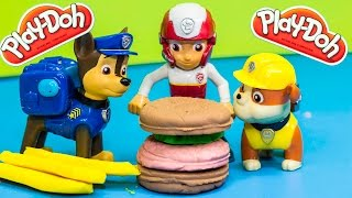 getlinkyoutube.com-PAW PATROL Nickelodeon Paw Patrol PLAY DOH Burger a Play Doh Toys Parody