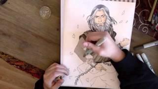 Drawing Zaheer - Legend Of Korra (+ Zaheer quotes compilation)