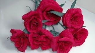 getlinkyoutube.com-Kwiaty z bibuły - róża . Crepe paper flowers DIY