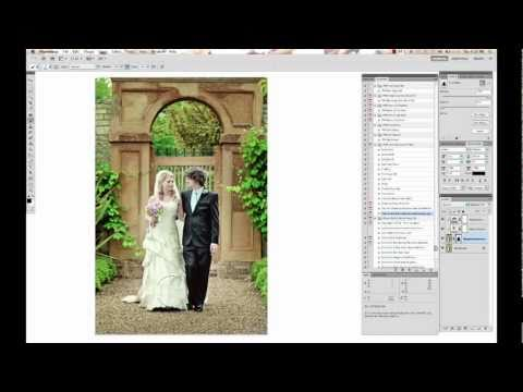 Photoshop Actions How To - Processing a Wedding Photo - by Paint the Moon