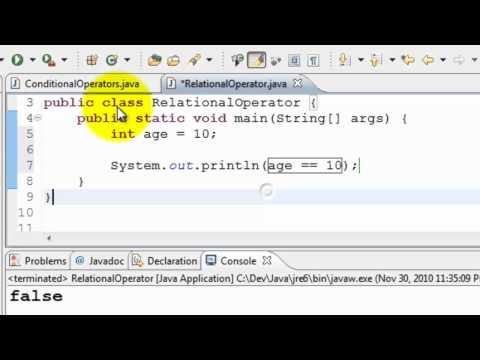Java Tutorial #6 - Relational Operators