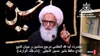 Do Zanjeer, Qama, Tatbir,  Aagh matam by Ayatullah Sheikh Bashir Najafi