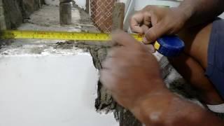 getlinkyoutube.com-Dicas pra fazer reboco do degrau da escada no prumo