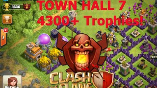 getlinkyoutube.com-Clash of Clans - Meeting WORLDS HIGHEST TH7 Player 4300+ Trophies