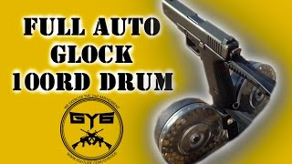 getlinkyoutube.com-Full Auto GLOCK-100rd Drum Mag