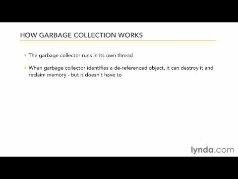 3-6. Memory management and garbage collection. java essential training