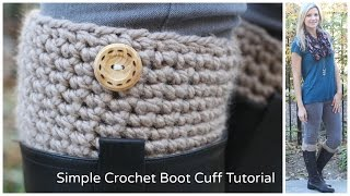 Simple Crochet Boot Cuff Tutorial