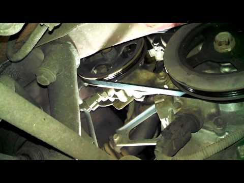 Belt replacement 2000 Toyota Echo power steering alternator air conditioning Install Remove