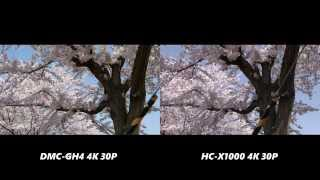 Panasonic HC-X1000 4K vs Panasonic DMC-GH4 4K