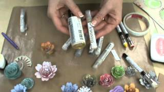 "getlinkyoutube.com-No ""Die Cutting"" needed with 3D Roly Rosie Flowers by Scrapbooking Made Simple"