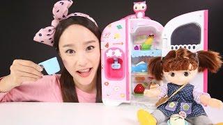 getlinkyoutube.com-콩순이 말하는 냉장고 장난감 캐리의 인형 소꿉놀이 CarrieAndToys