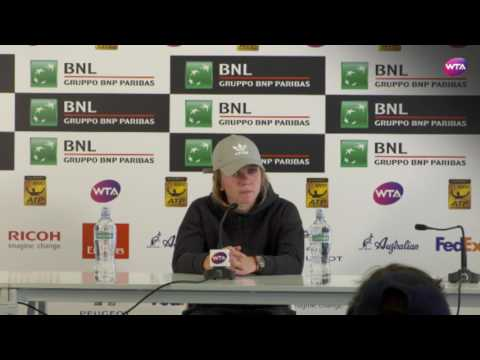 2017 Simona Halep Internazionali BNL d`Italia Final Press Conference