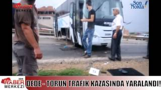 Kaza Yapan İşçi Servisindeki Dede-Torun Yaralandı!