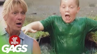 getlinkyoutube.com-Kid Falls into Puddle Prank - Just For Laughs Gags