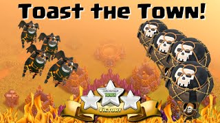 "Clash of Clans ""Town Hall 9 Attack Strategy"" Four Lavahound Tutorial"