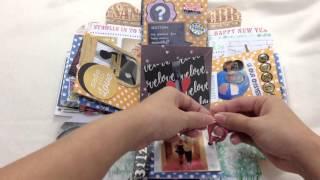 getlinkyoutube.com-Exploding box / Handmade / Anniversary gift idea / surprise / DIY craft