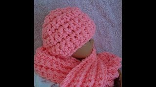 getlinkyoutube.com-How to crochet a hat and scarf set from Sweet Potato Patterns, youtube video, baby