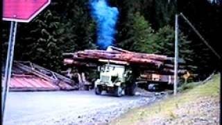 getlinkyoutube.com-ROCK TRUCK, 1954 EUCLID HAULING LOGS, BETTER QUALITY VERSION