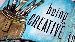 getlinkyoutube.com-Art Journal - Being Creative