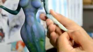 getlinkyoutube.com-Mermaid - cold porcelain Project - video 2 /3 (eng/esp)
