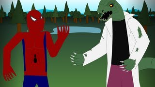 getlinkyoutube.com-Spider-man vs The Lizard