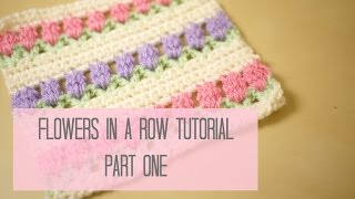 getlinkyoutube.com-CROCHET: Flowers in a row/ Tulip stitch tutorial PART ONE | Bella Coco