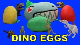 getlinkyoutube.com-Dinosaur Eggs Surprise Play Doh | Dinosaurs Surprise Play Doh Eggs | Hatching Dinosaur Eggs