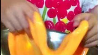 getlinkyoutube.com-สอนวิธีทำสไลม์แบบลาวาและเล่นสไลม์ เทศกาลฮาโลวีน (2) (Slime playing tutorial 2)
