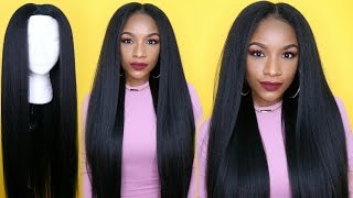 Kinky Straight Hair Under $25 !! How to Make a Wig in 30 Minutes