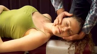getlinkyoutube.com-Chiropractic Adjustment for Neck & Back Pain, Headaches, Demo by Austin Chiropractor, Chiro