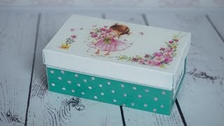 getlinkyoutube.com-Decoupage tutorial - shoe box  -------  DIY By Catherine  :)