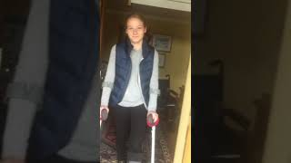 Walking properly for the first time on crutches after my accident