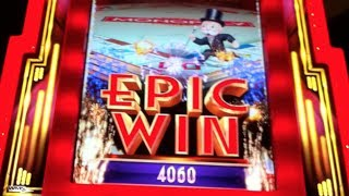 getlinkyoutube.com-EPIC MONOPOLY | WMS - EPIC WIN! 10 Rolls w. X3 Multiplier | Slot Machine Bonus