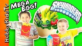getlinkyoutube.com-Mega Giant SKYLANDERS Surprise Egg! McDonalds Happy Meal by HobbyKidsTV