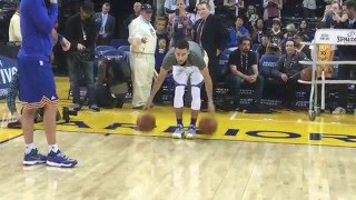 getlinkyoutube.com-Stephen Curry's Full Pre-Game Routine for Trail Blazers/Warriors!