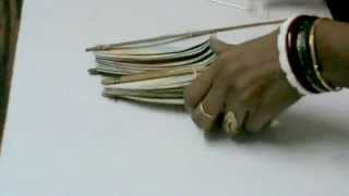 NIKSHIPTAM; HOW TO MAKE OF FOLDING HAND FAN FROM WASTE MATERIAL