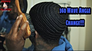 360 Wave Coarse Hair: New Angle Change..My head got smaller?? [4K]