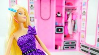 getlinkyoutube.com-Видео для девочек. Игрушечный шкаф для куклы. Маша и Барби учатся быть аккуратными