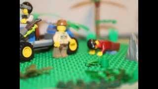 getlinkyoutube.com-Lego Jurassic Park Raptor Island
