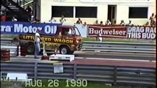 "Drag Racing's Bill ""Maverick"" Golden & the Dodge Little Red Wagon Wheelstander"