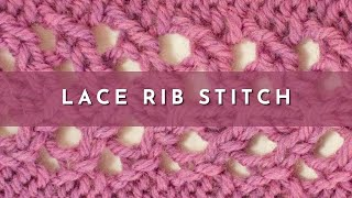 getlinkyoutube.com-How to Knit the Lace Rib Stitch