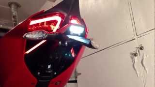 "getlinkyoutube.com-DIY: ""How To"" Carbon License Plate Holder and LED Euro turn signal  install. (Ducati 1199 Panigale)."