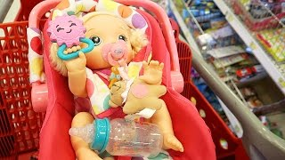 getlinkyoutube.com-Shopping with Baby Alive Back to School Shopping at Target with Baby Go Bye Bye