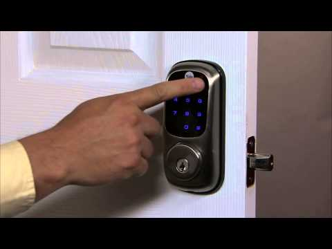 Yale Real Living Touchscreen Deadbolt Programming - Master Pin Code Setting 01