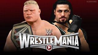getlinkyoutube.com-WWE Wrestlemania 31 : Roman Reigns vs Brock Lesnar - WWE Championship - EPIC Match! - (WWE 2K15)