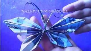getlinkyoutube.com-origami uang-cara origami bentuk kupu-kupu-origami money origami means butterfly shape
