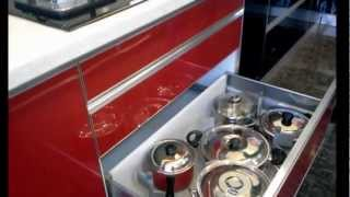 getlinkyoutube.com-Red and Black Acrylic Kitchen
